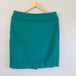 J. Crew The Pencil Skirt Sz 10 Green Pencil Skirt